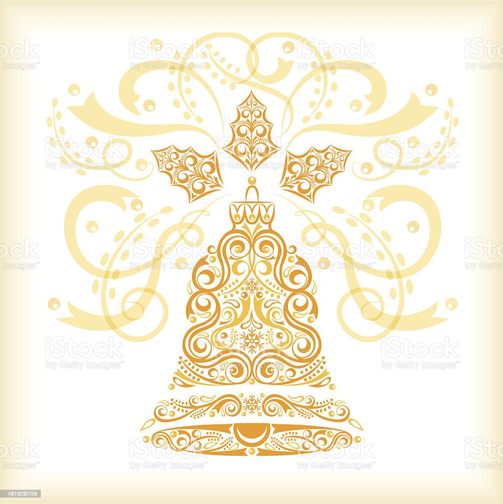 New Year's Bell royalty-free stock vector art