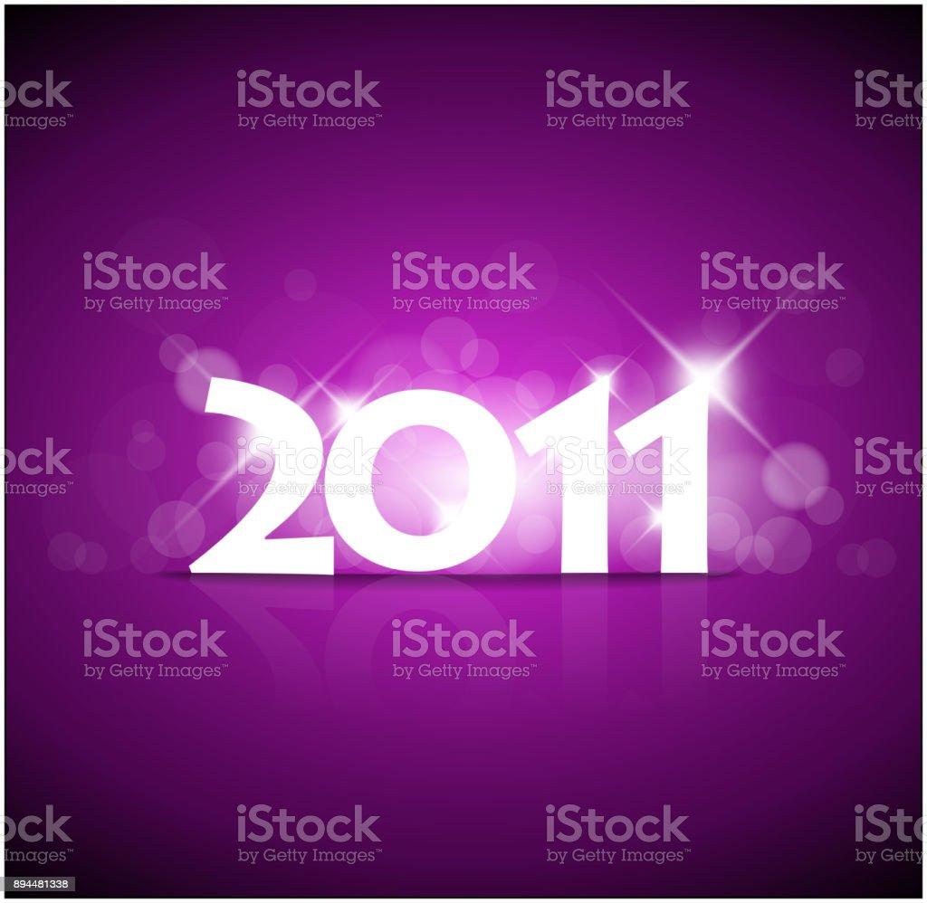 New Years card 2011 vector art illustration
