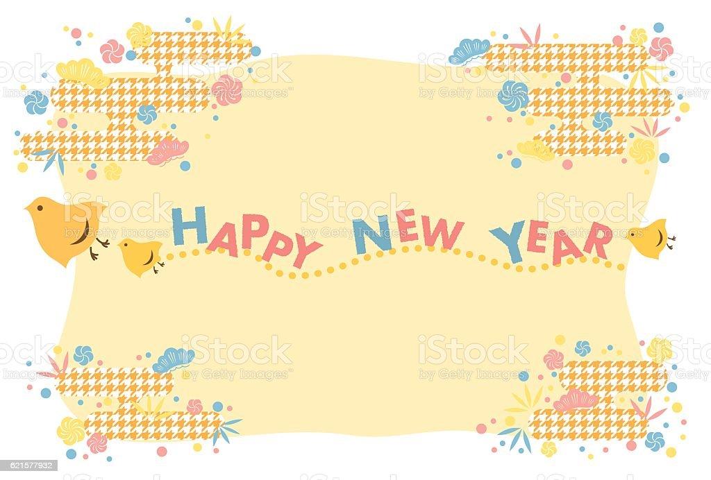 New Year's card design new years card design – cliparts vectoriels et plus d'images de bambou libre de droits