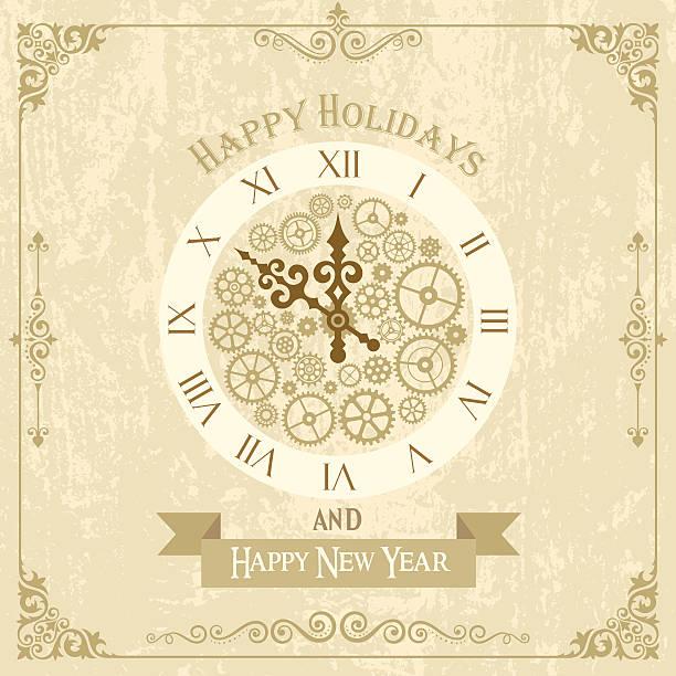 New Year's Card vector art illustration