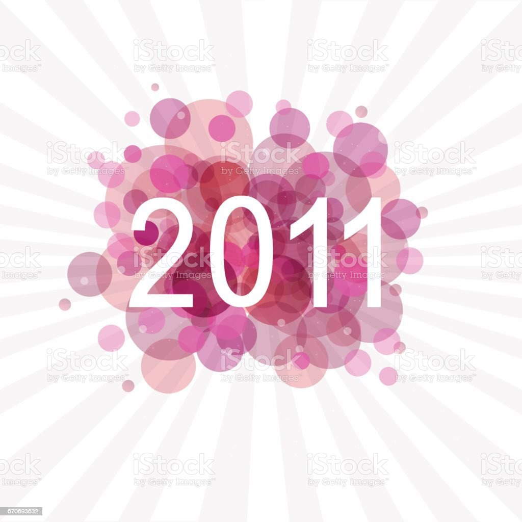 New Years Card vector art illustration