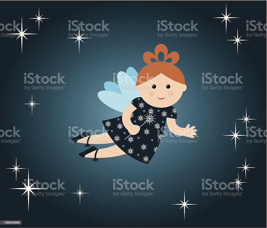 New year's card with fairy. royalty-free stock vector art