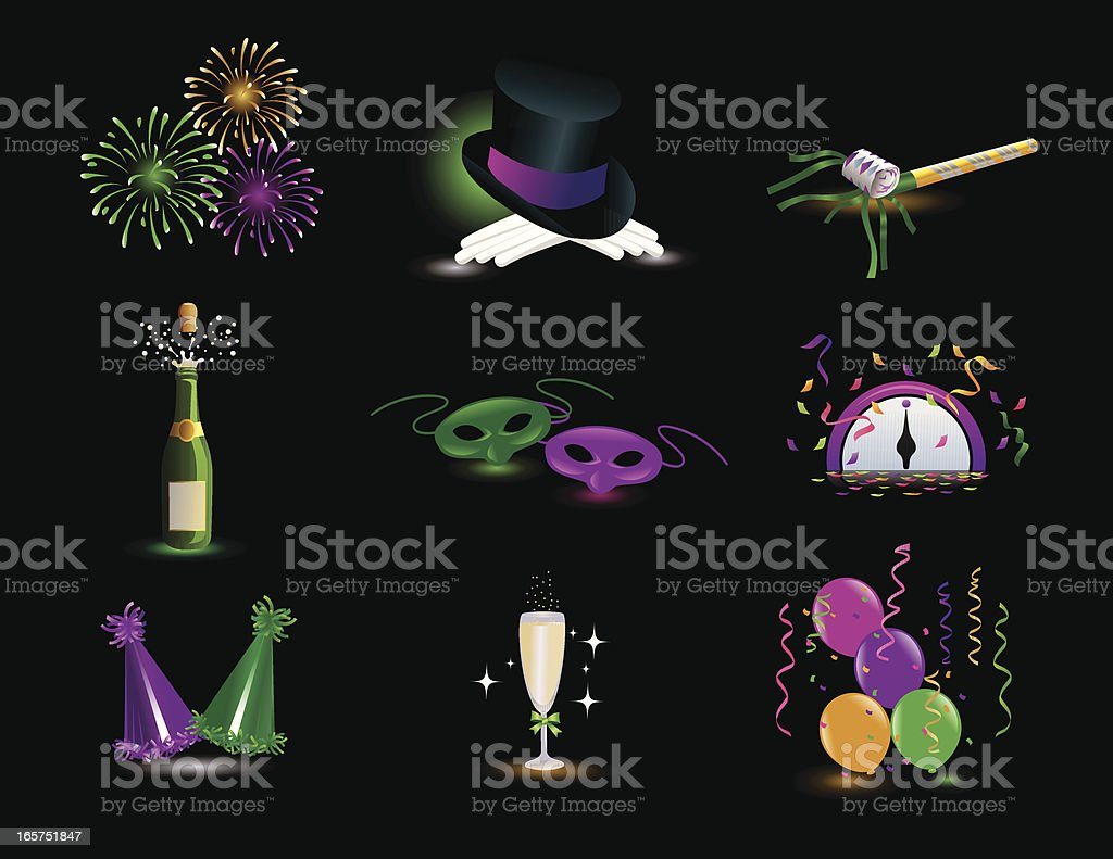 New Year's Celebration Design Elements royalty-free new years celebration design elements stock vector art & more images of celebration