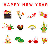 New Year's Cooking Illustration Set (Osechi)