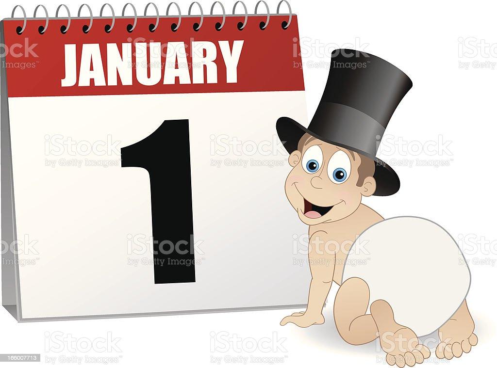 new years day calendar royalty free new years day calendar stock vector art
