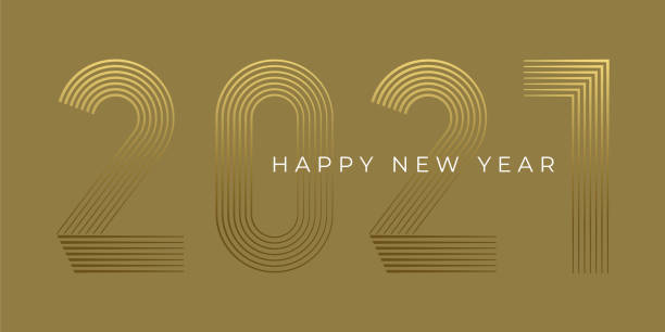 New Year's Day card 2020. Happy new year design. New Year's Day card 2020. Happy new year design. Stock illustration new years day stock illustrations
