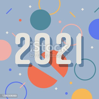 istock New Year's design with confetti motif and 2021 message 1290008393