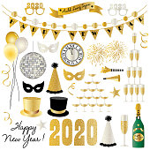 New Years Eve 2020 graphics