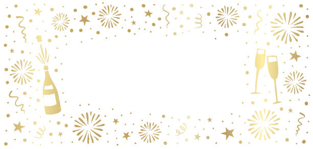 New Year's Eve background vector art illustration