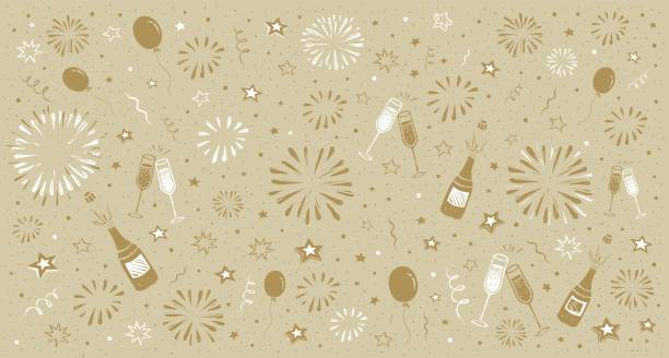 new year's eve background - new years eve stock illustrations, clip art, cartoons, & icons
