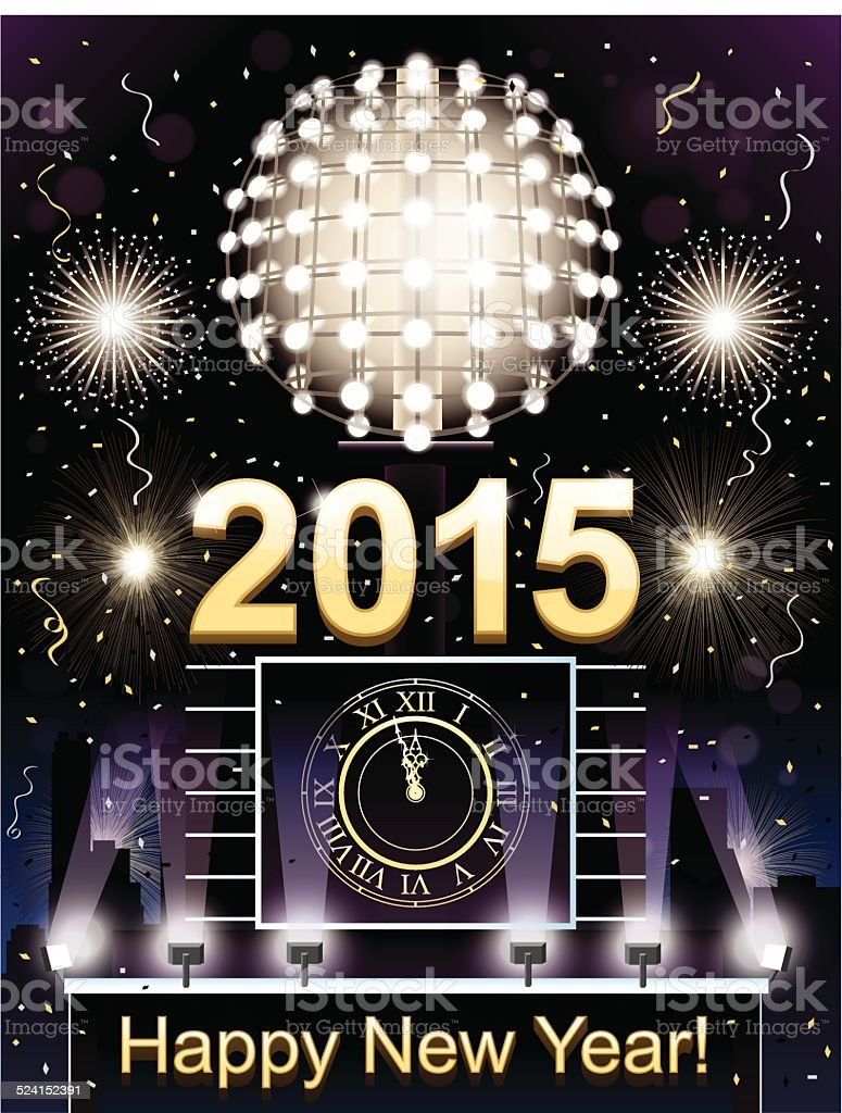 New Year's Eve Celebration vector art illustration