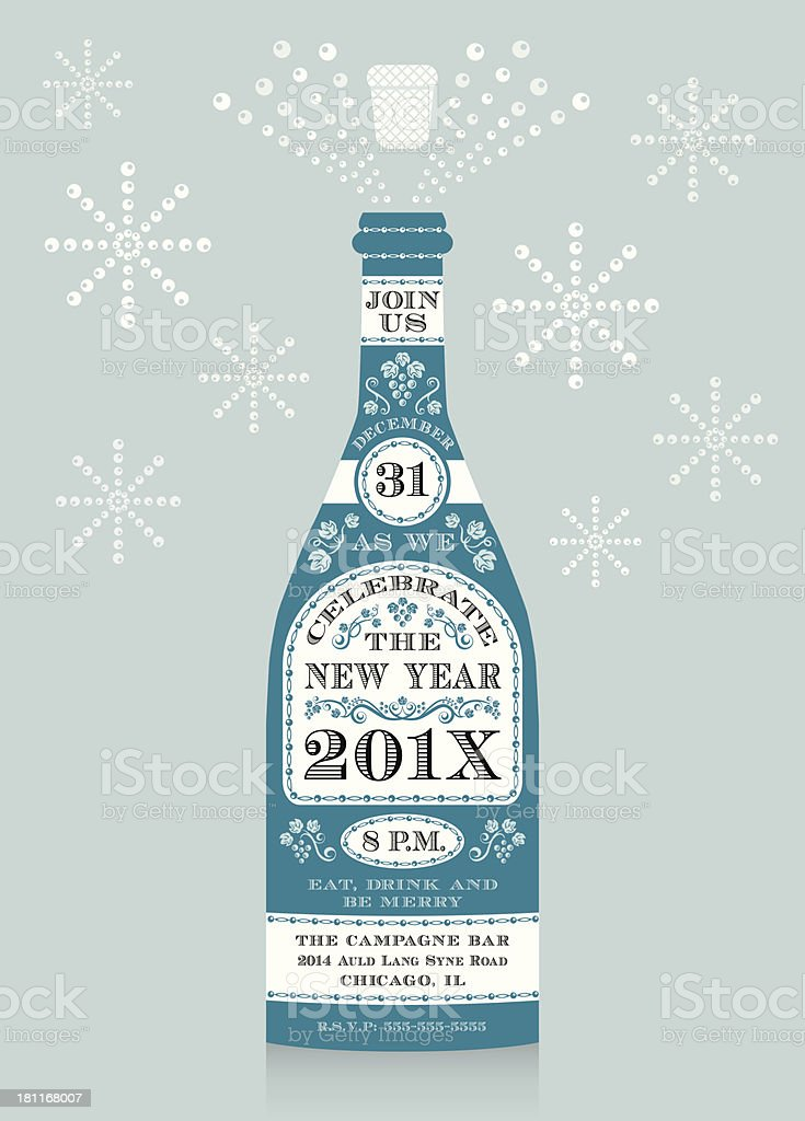 alcohol bottle bubble champagne drink new years eve champagne invitation