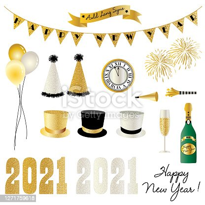 2021 new year's eve clipart graphics