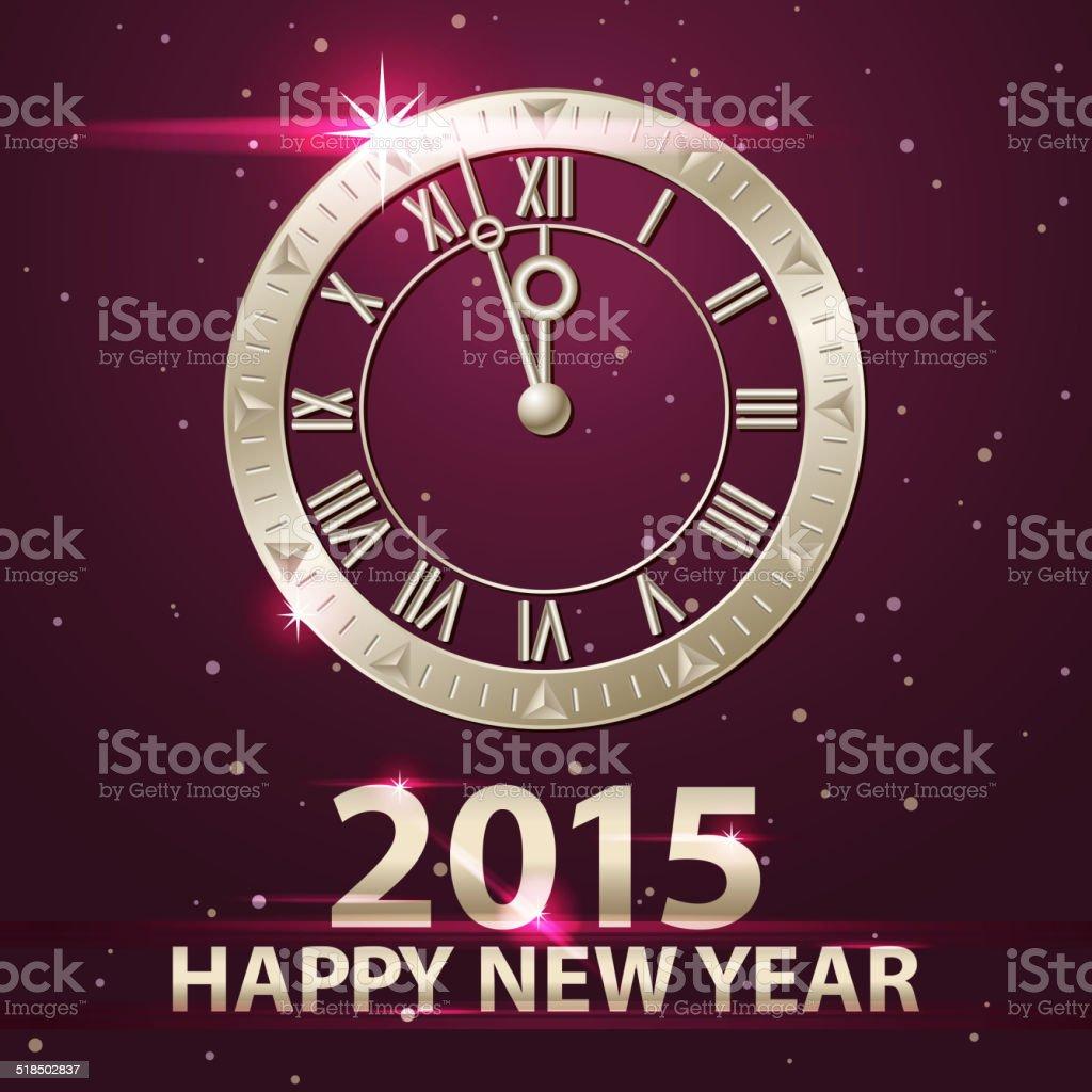 New Year's Eve Coundown 2015 vector art illustration