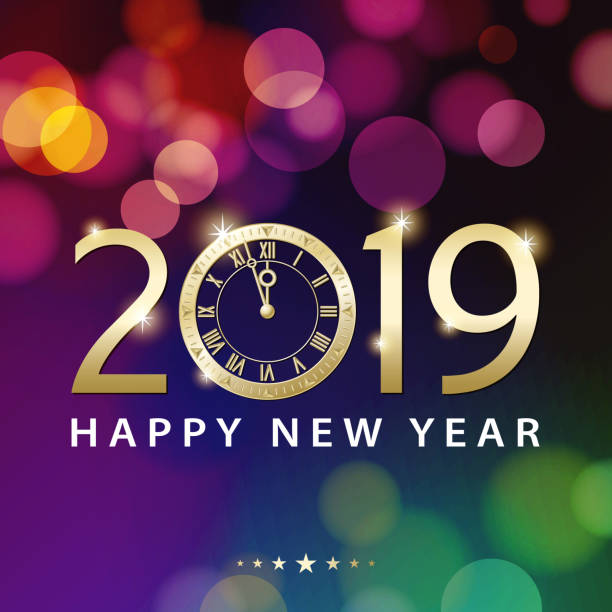 new years eve countdown 2019 vector art illustration