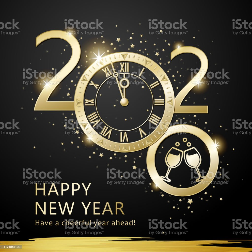 2020 New Years Eve Countdown Party Stock Illustration