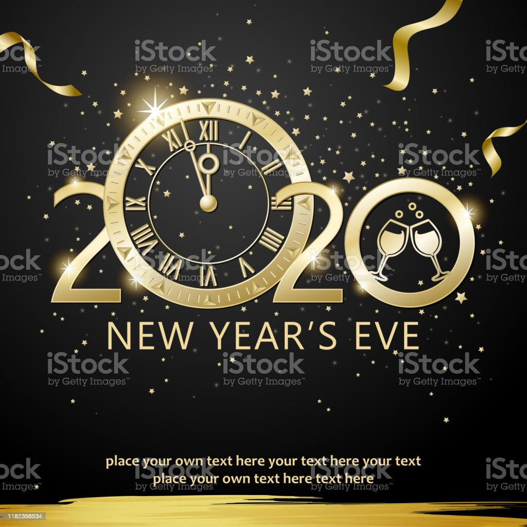 2020 New Years Eve Countdown Party Stock Illustration ...