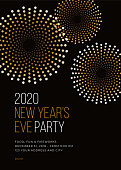 New Year's Eve Party Invitation Template.
