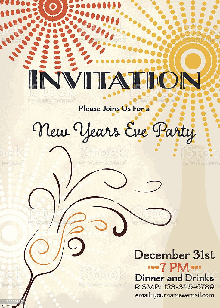 New Years Eve Party Invitation Template Stock Vector Art & More ...