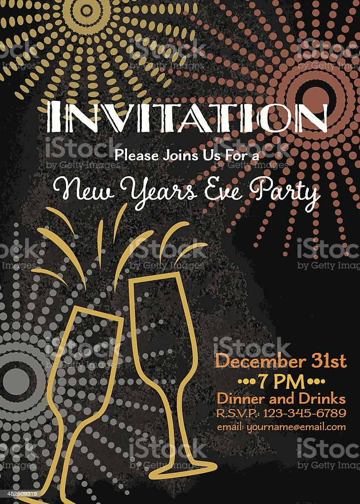 new years eve party invitation template stock vector art 452509315