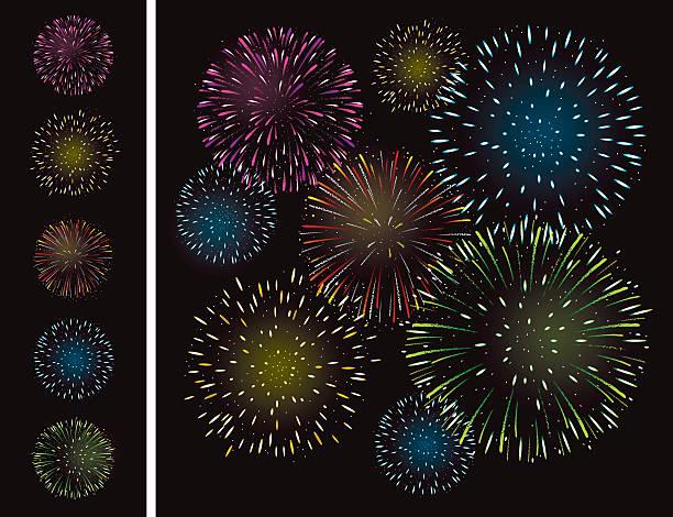 nowy rok sztucznych ogni - new year stock illustrations