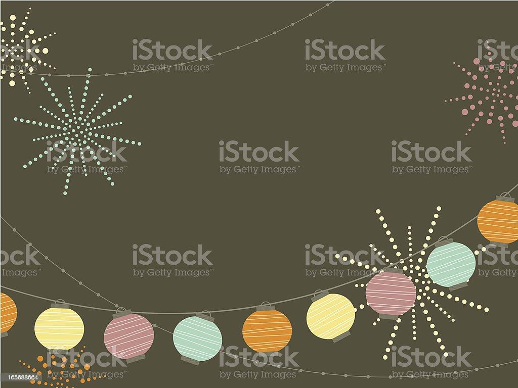 New Year's Lantern vector art illustration