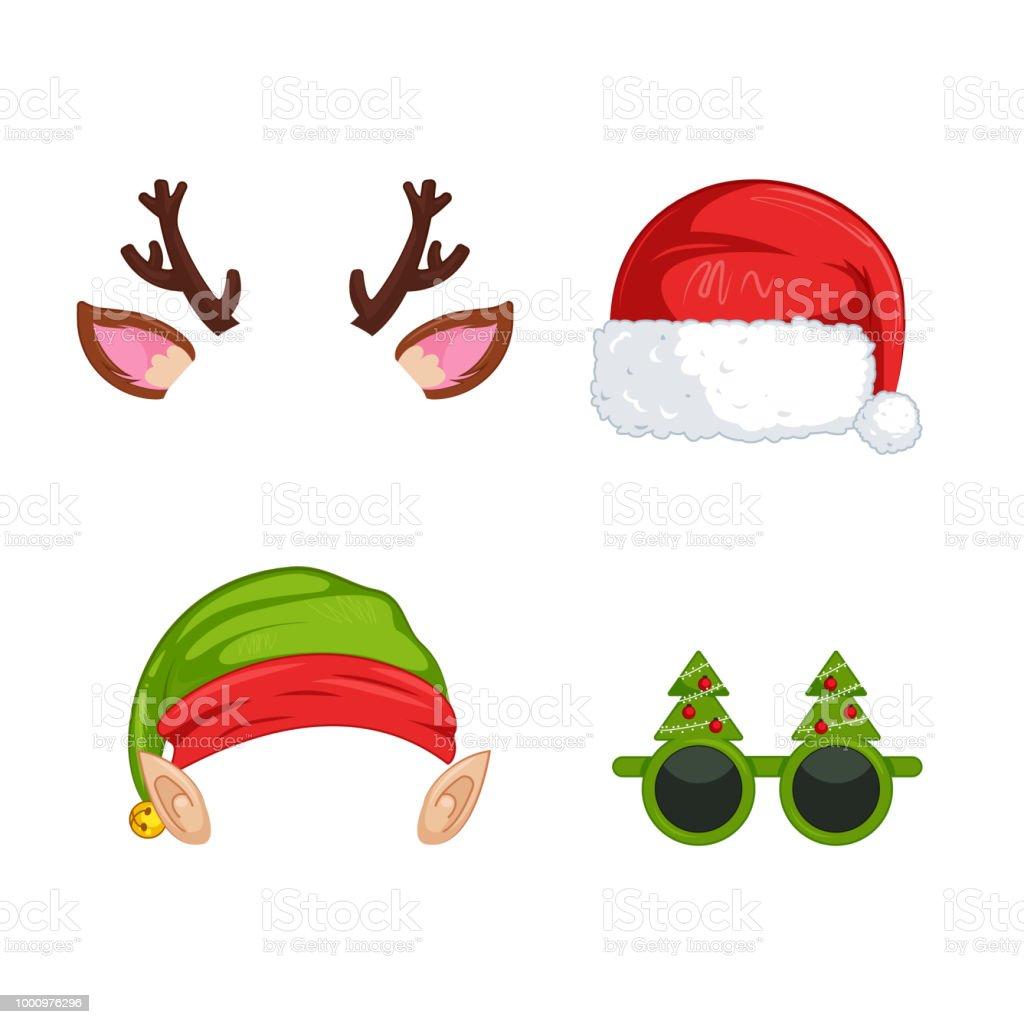 Bilder Weihnachten Clipart.Silvester Masken Für Fotos Weihnachten Clipart Weihnachtsmann Und
