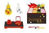 New Year's Osechi Cuisine Set