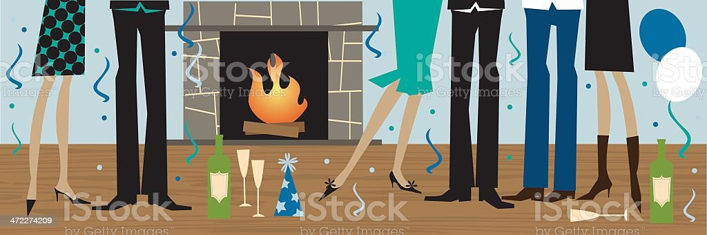 New Years Party royalty-free stock vector art