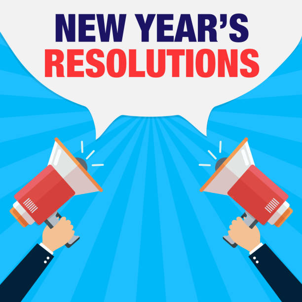 Best New Year Resolutions Illustrations, Royalty-Free Vector