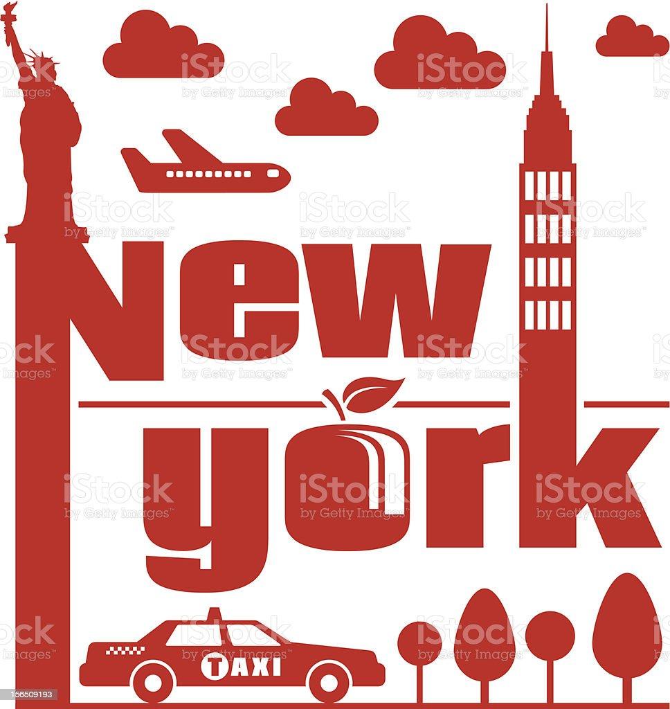 New York Abstract royalty-free stock vector art