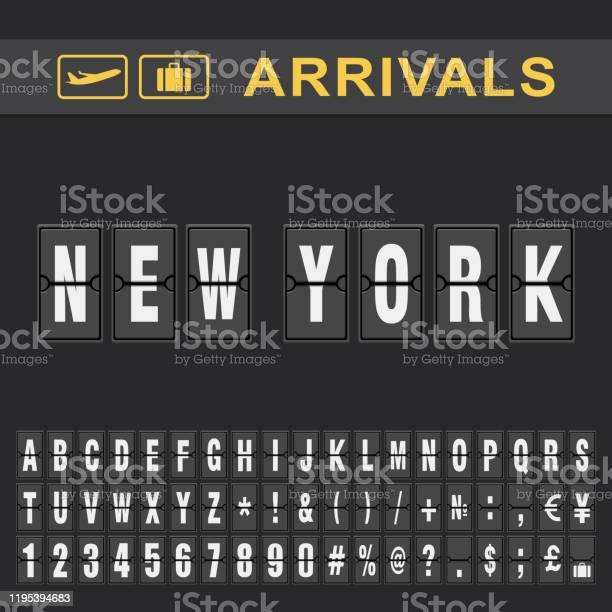 ニューヨーク空港 出発時刻と到着時刻表 - アイコンのベクターアート ...