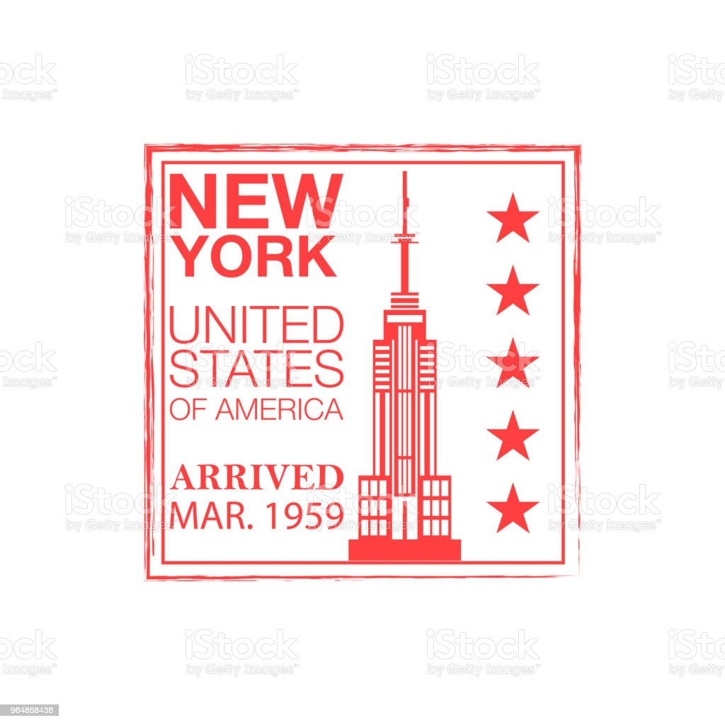 New York arrival ink stamp on passport. royalty-free new york arrival ink stamp on passport stock vector art & more images of absence