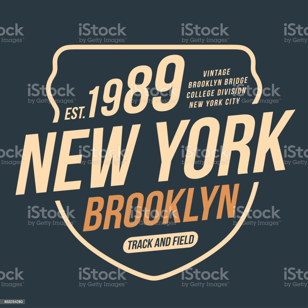 214352a6 New York, athletic sport typography for t shirt print. Varsity style. T- shirt graphics - Illustration .