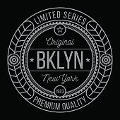 New York Brooklyn typography