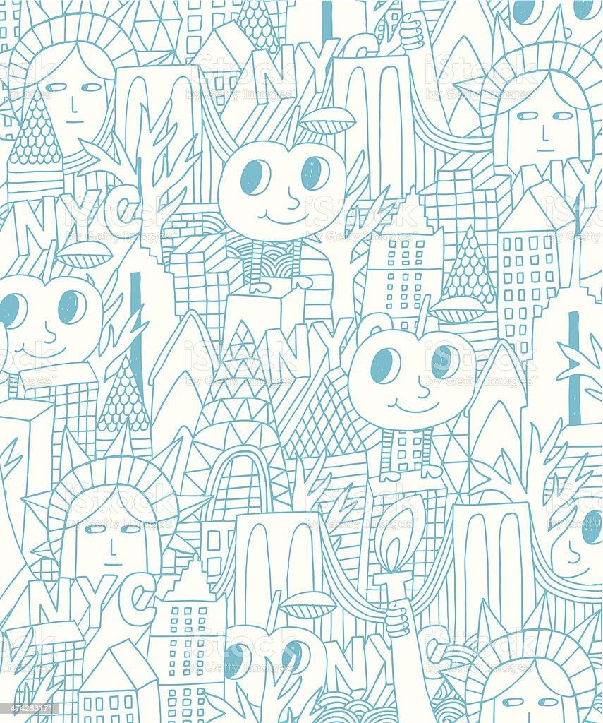 New York City background royalty-free stock vector art