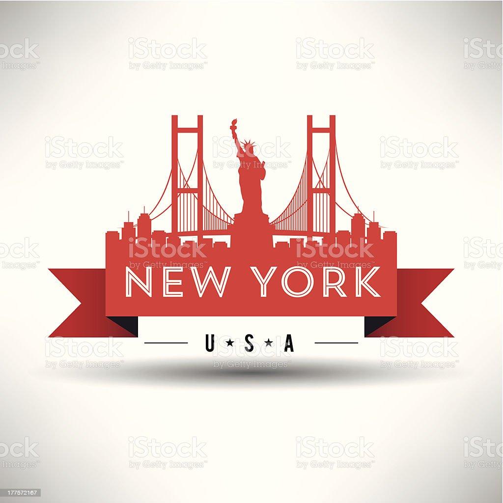 New York City Banner Design royalty-free stock vector art