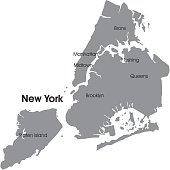 New York city detailed map