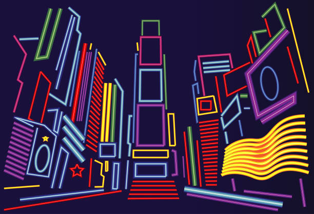 Best Times Square Illustrations, Royalty-Free Vector ...