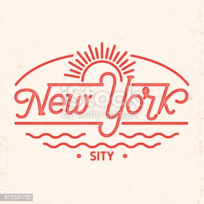 istock New York city line art design. 512231732