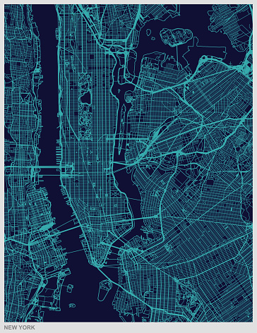 New York city map texture background