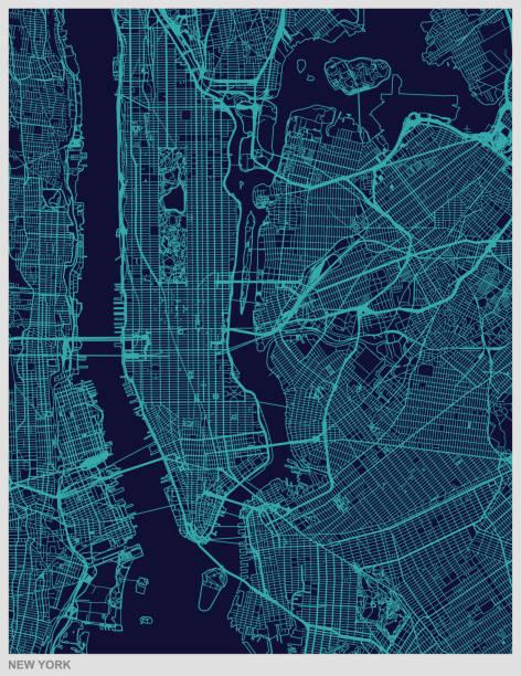 illustrations, cliparts, dessins animés et icônes de fond de texture carte new york city - new york