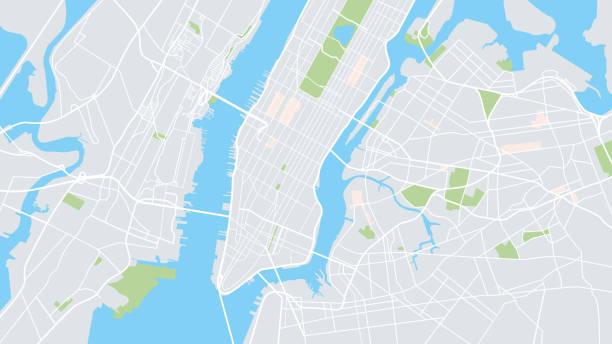 illustrations, cliparts, dessins animés et icônes de plan de la ville de new york - new york