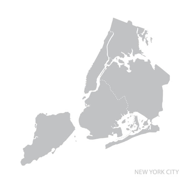 new york city map. - new york map stock illustrations, clip art, cartoons, & icons