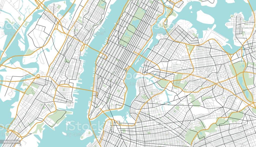 stadtplan von new york city stock vektor art und mehr. Black Bedroom Furniture Sets. Home Design Ideas