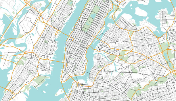Free Map Of New York City.Best New York Map Illustrations Royalty Free Vector Graphics Clip