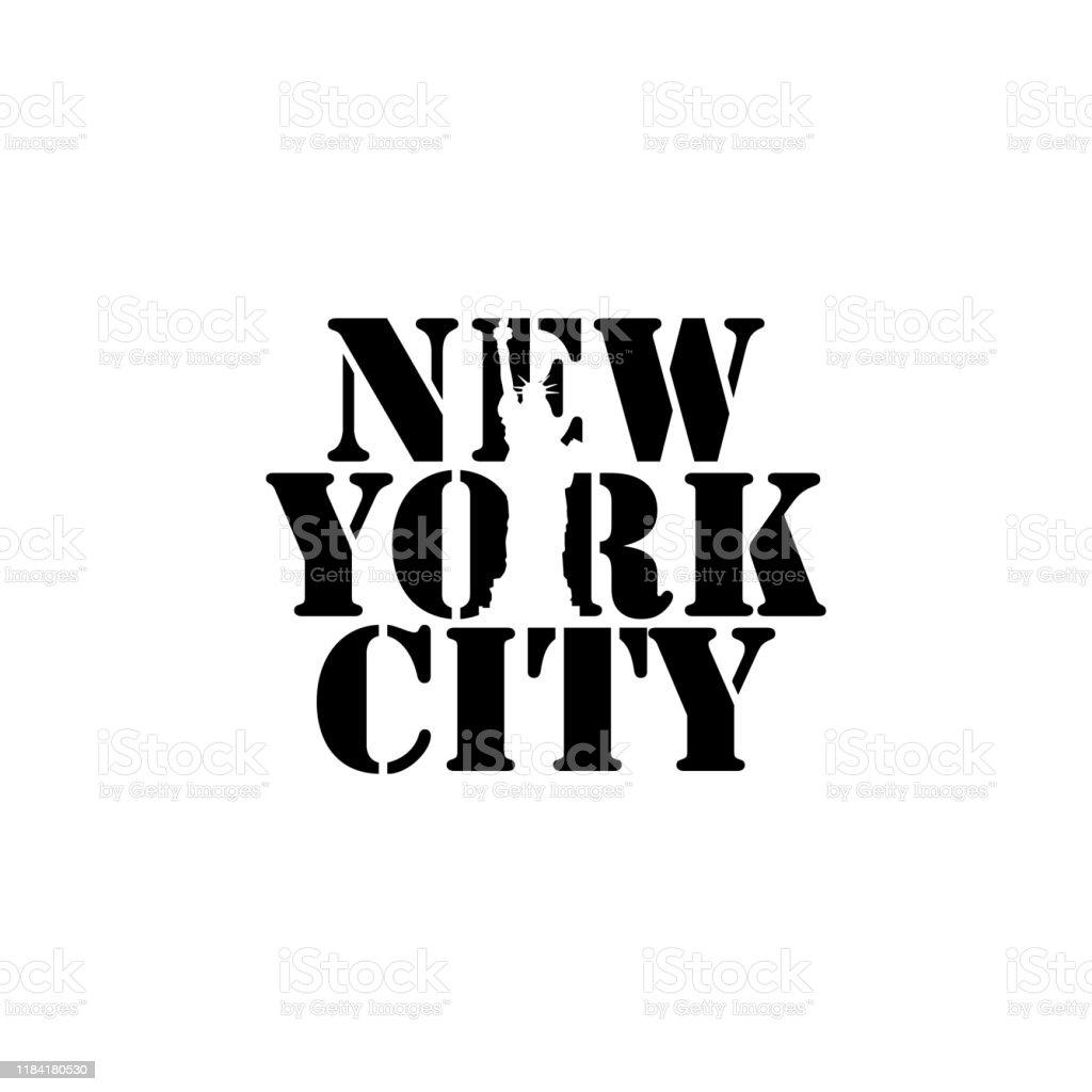 New York City Negative Space Typography Logo Design Image Stock Illustration Download Image Now Istock