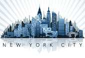 drawing of vector New York city sign.This file was recorded with adobe illustrator cs4 transparent.EPS10 format.