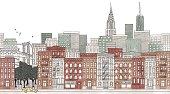 New York City - seamless banner of New York's skyline