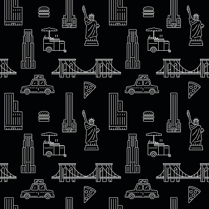 New York City seamless vector pattern